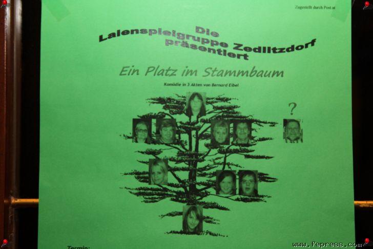 Ein Platz im Stammbaum Laienspielgruppe Zedlitzdorf (Autriche)
